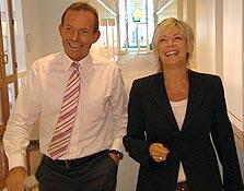 Tony Abbott and 60 Minutes reporter, Liz Hayes