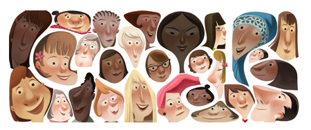 Google's 'doodle' for International Women's Day 2013