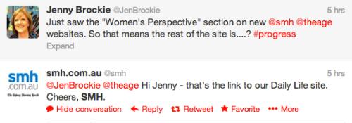 women's perspective daily life tweet