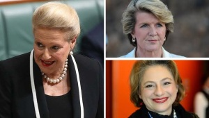 Bronwyn Bishop, Julie Bishop and Sophie Mirabella
